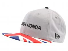 McLaren Honda formule 1 2017 Alonso & Vandoorne Special Edition grande-Bretagne chapeau grau M/L