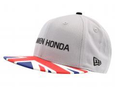 McLaren Honda fórmula 1 2017 Alonso & Vandoorne Special Edition gran Bretaña Cap gris S/M