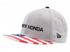 McLaren Honda formule 1 2017 Alonso & Vandoorne Special Edition USA Cap gris M/L