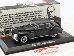 Lincoln Continental filme The Godfather 1972 preto 1:43 Greenlight
