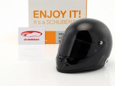Schuberth SF1 Miniatur Replica helm Plain Body Version zwart 1:2 Schuberth