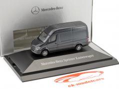 Mercedes-Benz Sprinter busje tenoriet grijs metalen 1:87 Herpa