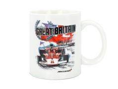 McLaren Greetings from Great Britain Emerson Fittipaldi McLaren M23 Tasse weiß
