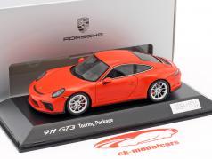 Porsche 911 (991 II) GT3 Touring Package 2017 lava orange 1:43 Spark