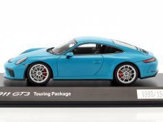 Porsche 911 (991 II) GT3 Touring Package 2017 Miami bleu 1:43 Spark