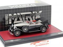 Mercedes-Benz 770K (W07) Cabriolet D Baujahr 1930 schwarz / silber metallic 1:43 Matrix
