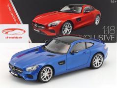 Mercedes-Benz AMG GT (C190) ano de construção 2015 azul 1:18 Maisto