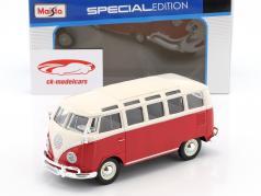 Volkswagen VW Samba bus red / white 1:24 Maisto