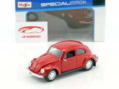 Volkswagen VW Beetle ano 1973 vermelho 1:24 Maisto
