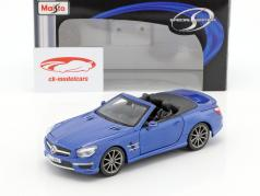 Mercedes-Benz SL 63 AMG Cabrio year 2012 blue metallic 1:24 Maisto