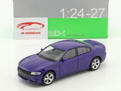 Dodge Charger R/T Baujahr 2016 lila-blau 1:24 Welly