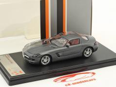 Mercedes-Benz SLS AMG año de construcción 2011 aburrido gris / transparente 1:43 Premium X