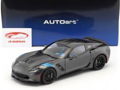 Chevrolet Corvette C7 Grand Sport anno di costruzione 2017 grigio metallico con nero strisce 1:18 AUTOart