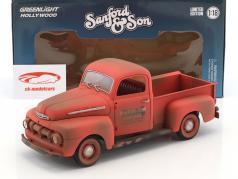 Ford F-1 Pick-Up ano de construção 1952 série de TV Sanford & Son (1972-77) vermelho 1:18 Greenlight
