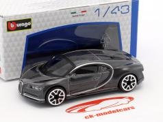Bugatti Chiron gris oscuro metálico 1:43 Bburago