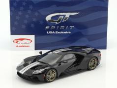 Ford GT Opførselsår 2016 sort / hvid 1:18 GT-Spirit
