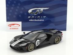 Ford GT #2 第50回 記念日 版 2016 黒 / 銀 1:18 GT-Spirit
