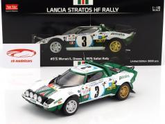 Lancia Stratos HF #3 2º Safari Rallye 1975 Munari, Drews 1:18 SunStar
