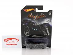 Batmobile DC Comics jogo vídeo Arkham Asylum preto 1:64 HotWheels