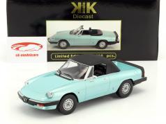 Alfa Romeo Spider 3 Serie 1 mit abnehmbarem Softtop Baujahr 1983 türkis 1:18 KK-Scale