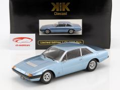 Ferrari 365 GT4 2+2 year 1972 light blue metallic 1:18 KK-Scale
