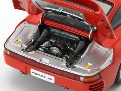 Porsche 959 vermelho Ano 1986 1:18 AUTOart