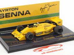 Ayrton Senna Lotus 99T #12 Vinder Monaco GP formel 1 1987 1:43 Minichamps