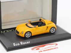 Volkswagen VW Eco Racer Concept Car Opførselsår 2005 okker gul metallisk 1:43 Norev
