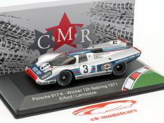 Porsche 917K #3 vencedor 12h Sebring 1971 Elford, Larrousse 1:43 CMR