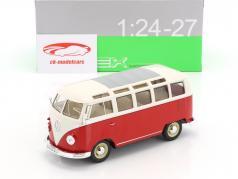 Volkswagen VW T1 ônibus ano de construção 1963 vermelho / branco 1:24 Welly