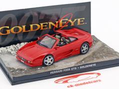 Ferrari F355 GTS carro de James Bond filme Goldeneye vermelho Ixo 1:43