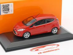 Ford Fiesta ano de construção 2011 vermelho 1:43 Minichamps