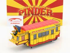 oplegger Creperie / Snack Bar Pinder circus geel / rood 1:43 Direkt Collections