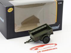 Div 1/4 Ton USA militar trailer 1:43 Cararama