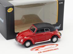 Volkswagen VW Beetle 1200 Cabriolé Suave Parte superior rojo 1:43 Cararama