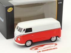 Volkswagen VW T1 transportador branco / vermelho 1:43 Cararama