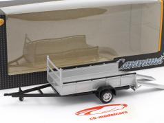 pendant Auto transporter trailer with 1 axis silver 1:43 Cararama