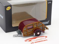 caravana óptica de madeira / marrom 1:43 Cararama