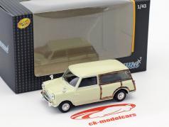 Mini Traveller Van creme branco / óptica de madeira 1:43 Cararama