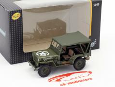 Jeep Willys 4x4 Soft Top verde 1:43 Cararama