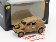Volkswagen VW Kubel Typ 82 Soft Top Baujahr 1941 Afrika Korps beige 1:43 Cararama