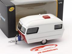 Div Wohnwagen IV año 1990 blanco / rojo 1:43 Cararama