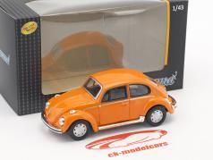 Volkswagen VW Beetle naranja 1:43 Cararama