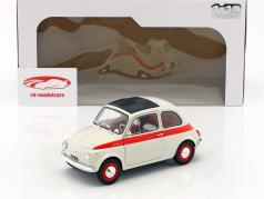 Fiat 500 L year 1960 cream / red 1:18 Solido