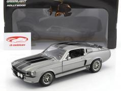 Ford Shelby Mustang Eleanor År 1967 grå metallisk / sort 1:18 Greenlight