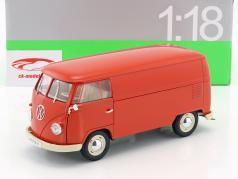 Volkswagen VW T1 Bus van Opførselsår 1963 rød 1:18 Welly