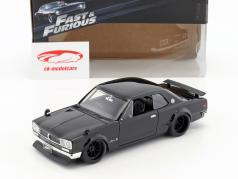 Brian's Nissan Skyline 2000 GTR Film Fast & Furious Five (2011) schwarz 1:24 Jada Toys