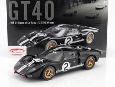 Ford GT40 MK II #2 vencedor 24h LeMans 1966 McLaren, Amon 1:12 GMP