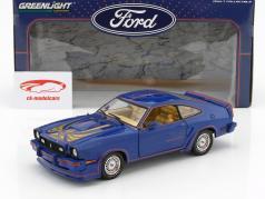 Ford Mustang II King Cobra ano de construção 1978 azul / vermelho / ouro 1:18 Greenlight