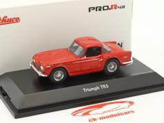 Triumph TR5 closed Top vermelho 1:43 Schuco